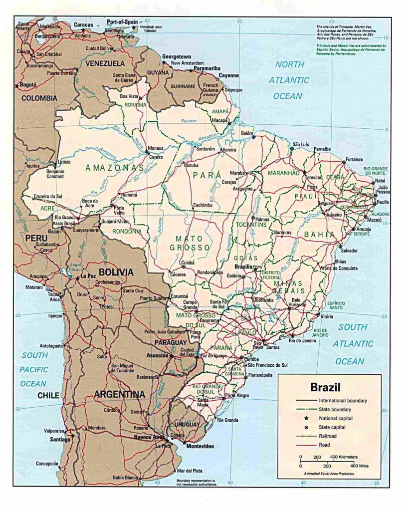 Brazil Maps | Printable Maps Of Brazil For Download regarding Free Printable Map Of Brazil