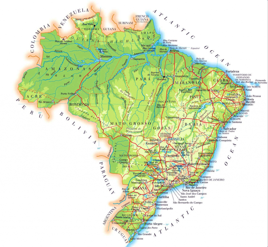 Brazil Maps | Printable Maps Of Brazil For Download with regard to Printable Map Of Brazil