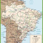 Brazil Road Map   Free Printable Map Of Brazil | Free Printable Download Intended For Free Printable Map Of Brazil