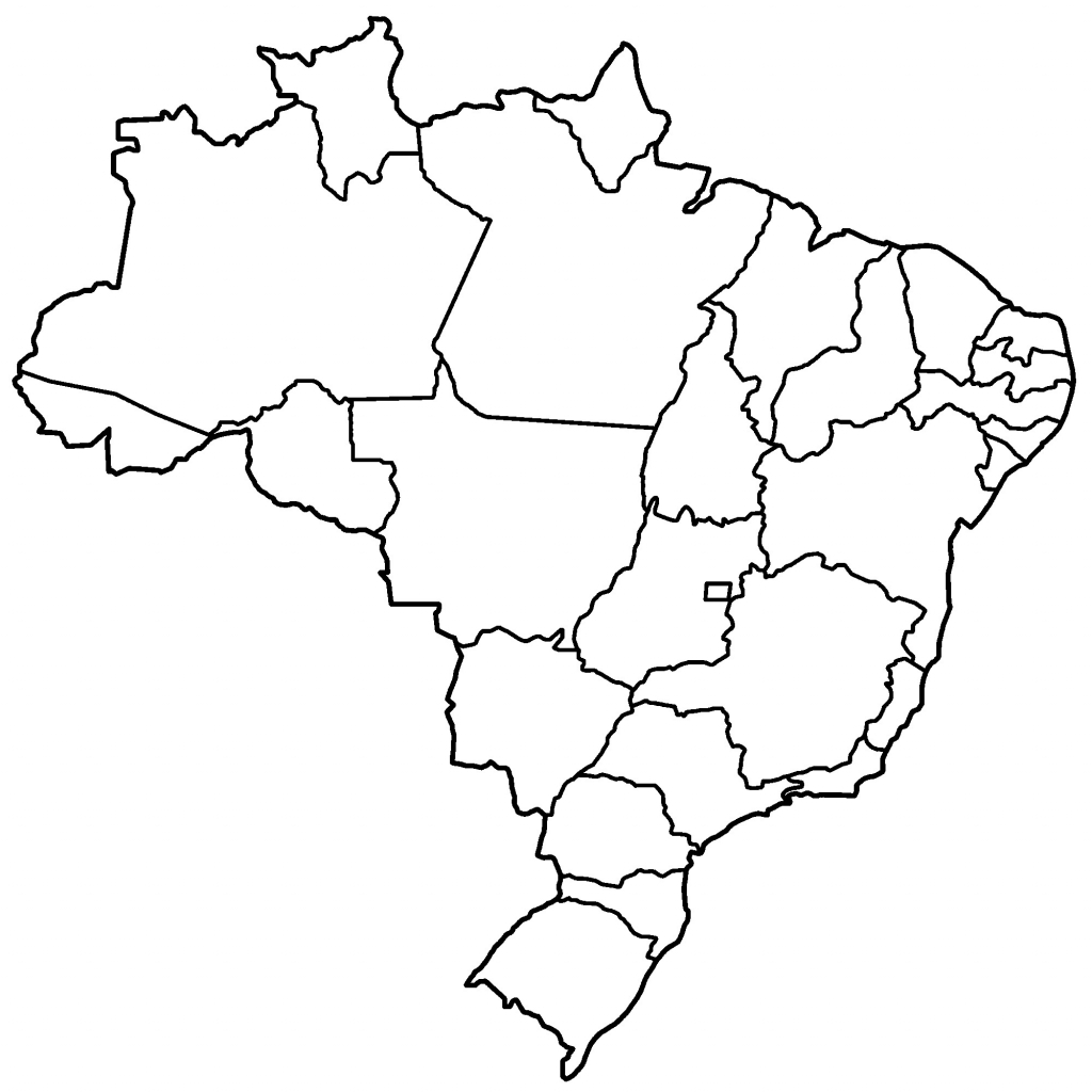 Brazil States Blank Free Printable Map Of Brazil | Indiafuntrip within Free Printable Map Of Brazil
