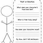 Bringing Characters To Life In Writer's Workshop | Scholastic Inside Free Printable Character Map