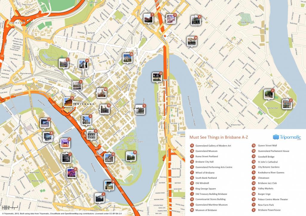 Brisbane Cbd Map - Map Of Brisbane Cbd (Australia) throughout Brisbane Cbd Map Printable