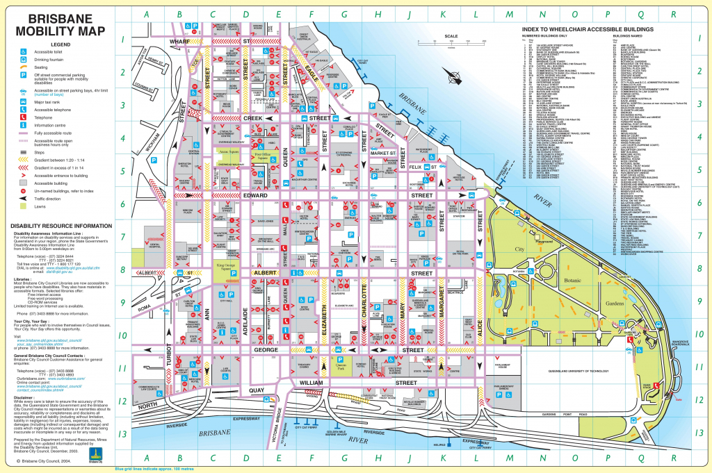 Brisbane City Center Map throughout Printable Map Of Brisbane