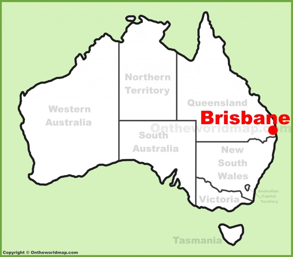 Brisbane Maps   Australia   Maps Of Brisbane in Printable Map Of Brisbane