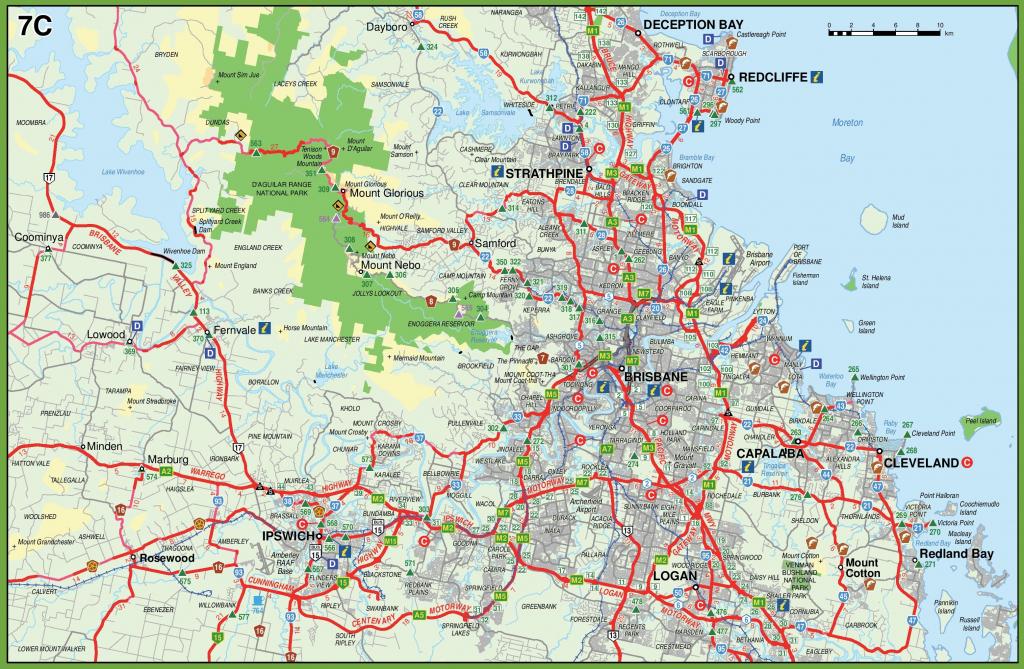 Brisbane Maps   Australia   Maps Of Brisbane inside Printable Map Of Brisbane