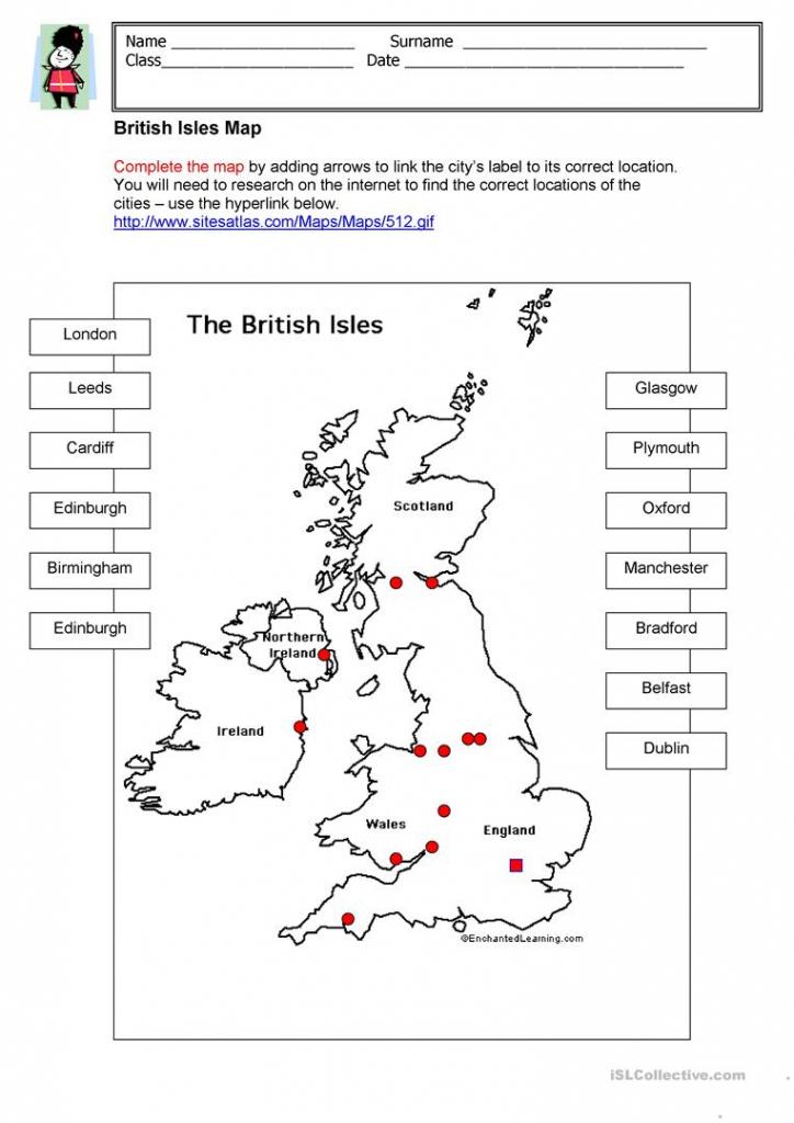 British Isles Map Worksheet - Free Esl Printable Worksheets Made with Free Printable Map Worksheets