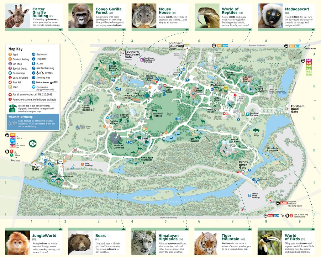 Bronx Zoo - Maplets with regard to Bronx Zoo Map Printable