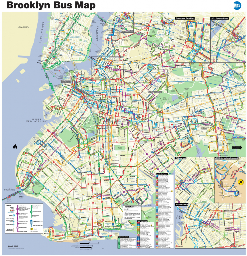 Brooklyn Bus Map - Nyc Bus Map Brooklyn (New York - Usa) pertaining to Printable Map Of Brooklyn