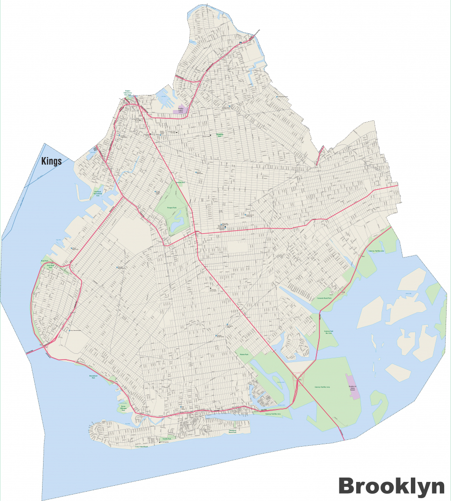 Brooklyn Street Map with regard to Printable Map Of Brooklyn