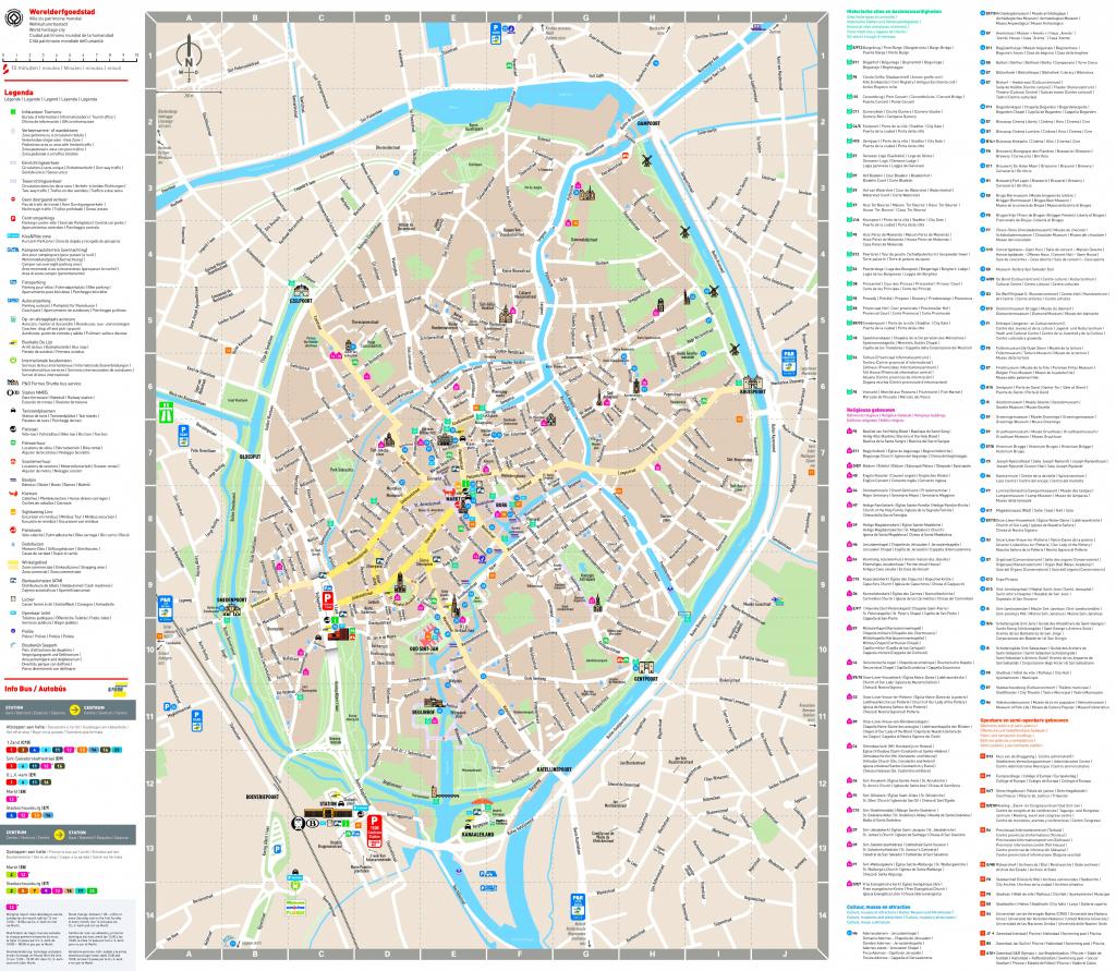 Bruges Sightseeing Map inside Bruges Tourist Map Printable