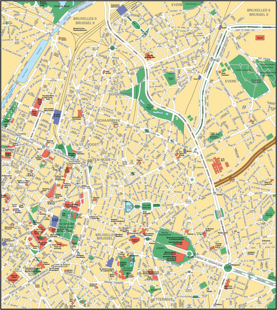 Brussels Map - Detailed City And Metro Maps Of Brussels For Download in Tourist Map Of Brussels Printable