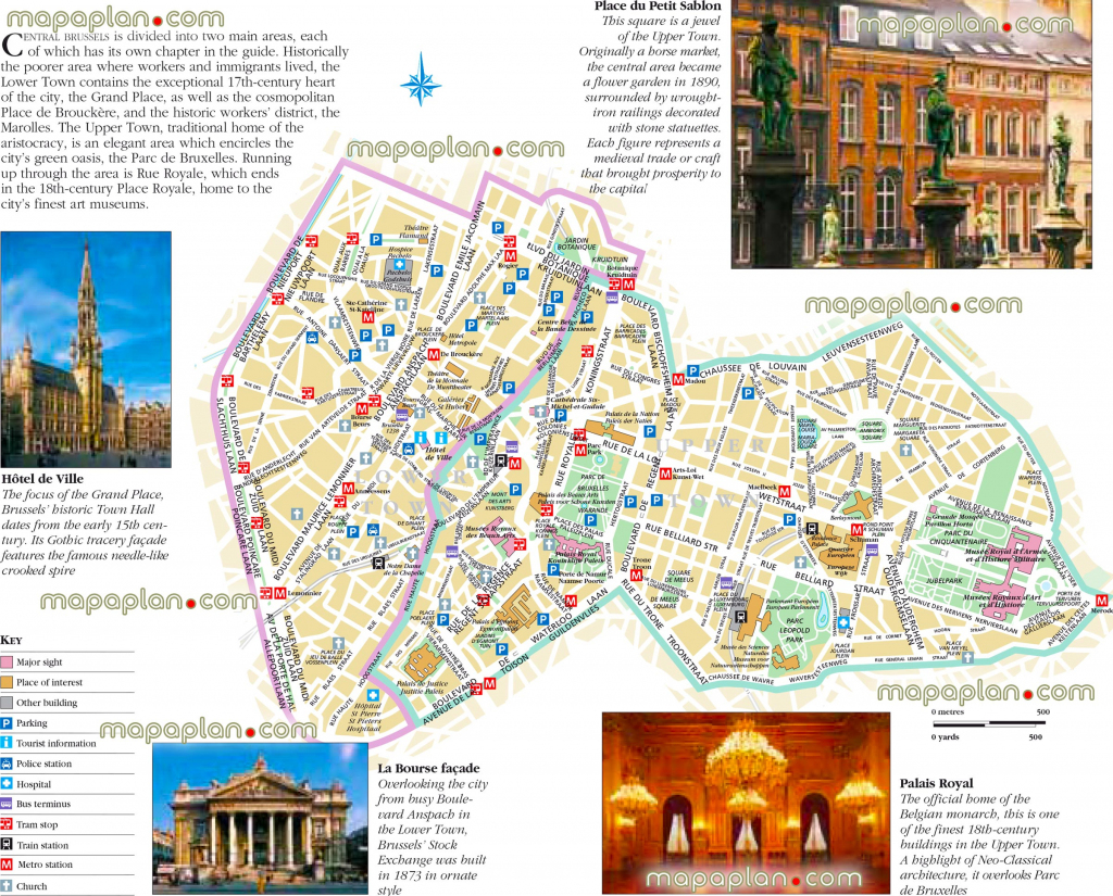 Brussels Maps - Top Tourist Attractions - Free, Printable City within Printable Map Of Brussels