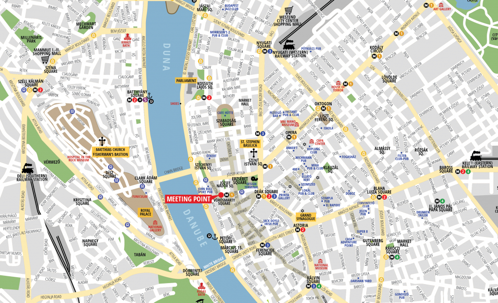 Budapest Attractions Map Pdf - Free Printable Tourist Map Budapest in Budapest Tourist Map Printable