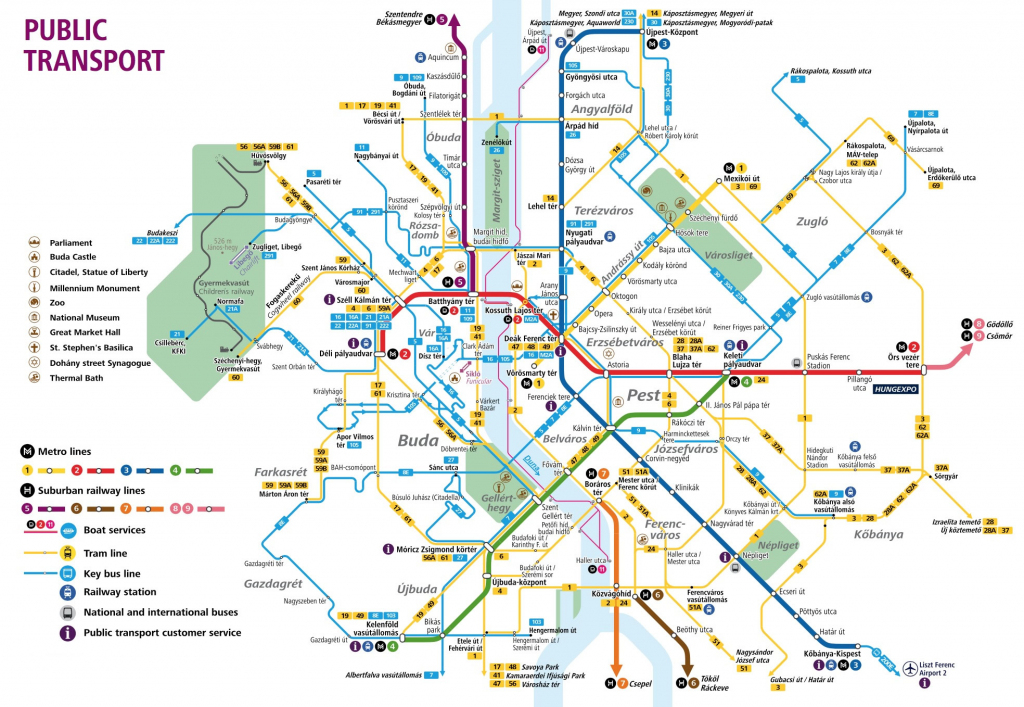 Budapest Attractions Map Pdf - Free Printable Tourist Map Budapest intended for Printable Map Of Budapest