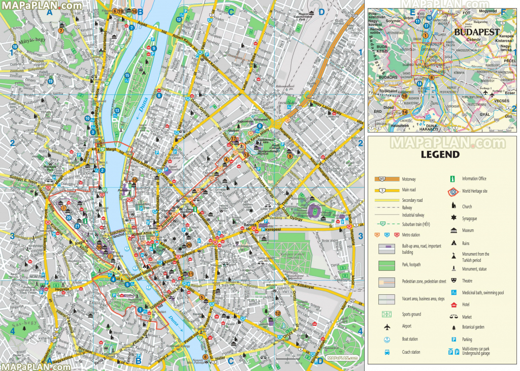 Budapest Maps - Top Tourist Attractions - Free, Printable City in Budapest Street Map Printable