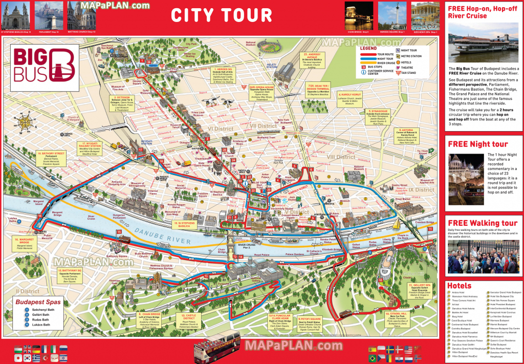 Budapest Maps - Top Tourist Attractions - Free, Printable City in Budapest Tourist Map Printable