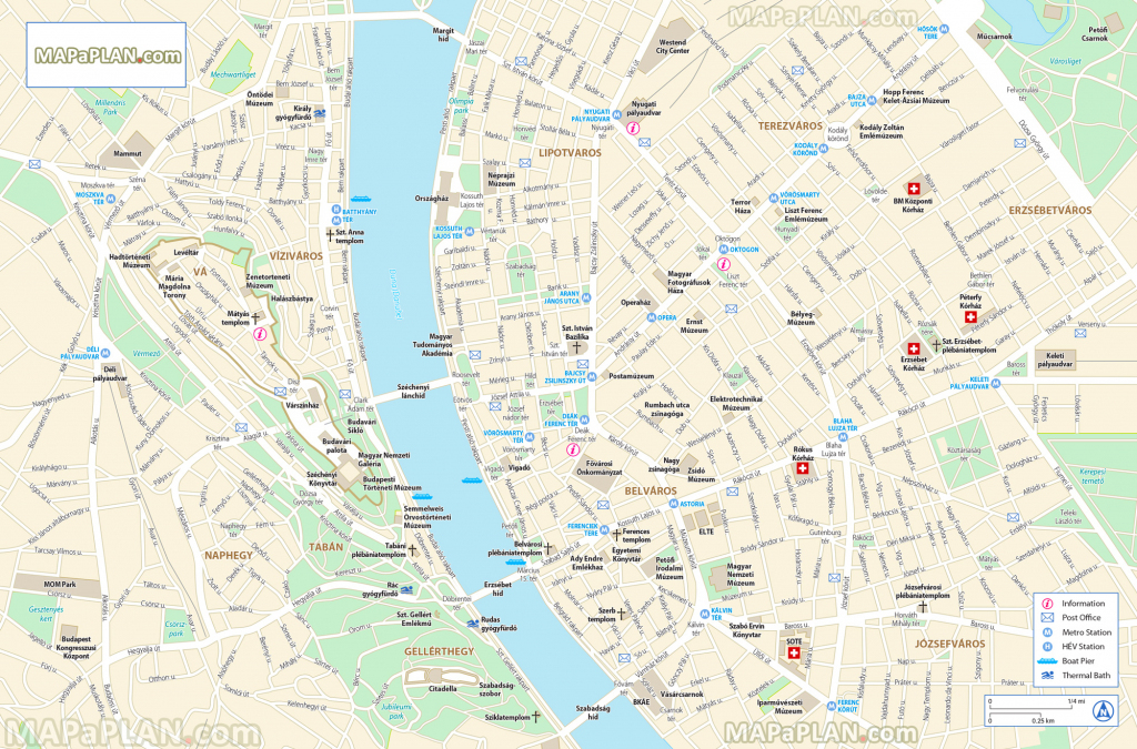 Budapest Maps - Top Tourist Attractions - Free, Printable City throughout Printable Map Of Budapest