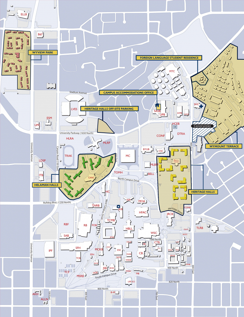 Byu Campus Map | Byu | Campus Map, College Life, House inside Byu Campus Map Printable
