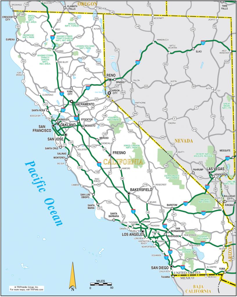 Ca California State Map Printable Road Map Of California - Klipy throughout Printable Road Map Of California