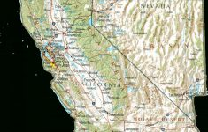 California Relief Map Printable
