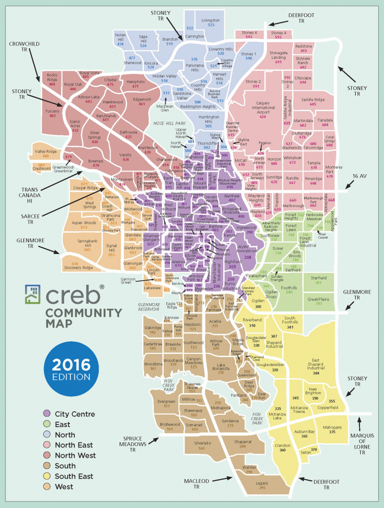 Calgary Communities Map for Printable Map Of Calgary