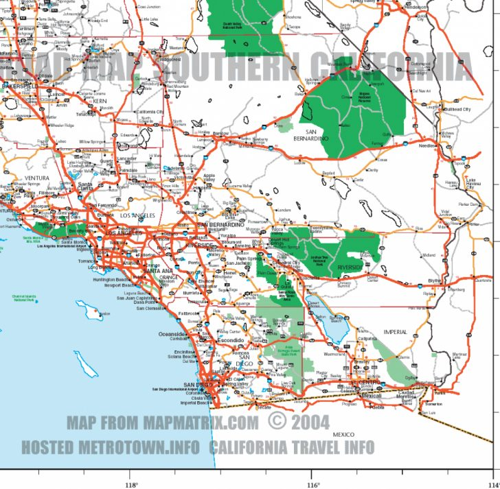 Printable Map Of Southern California Freeways