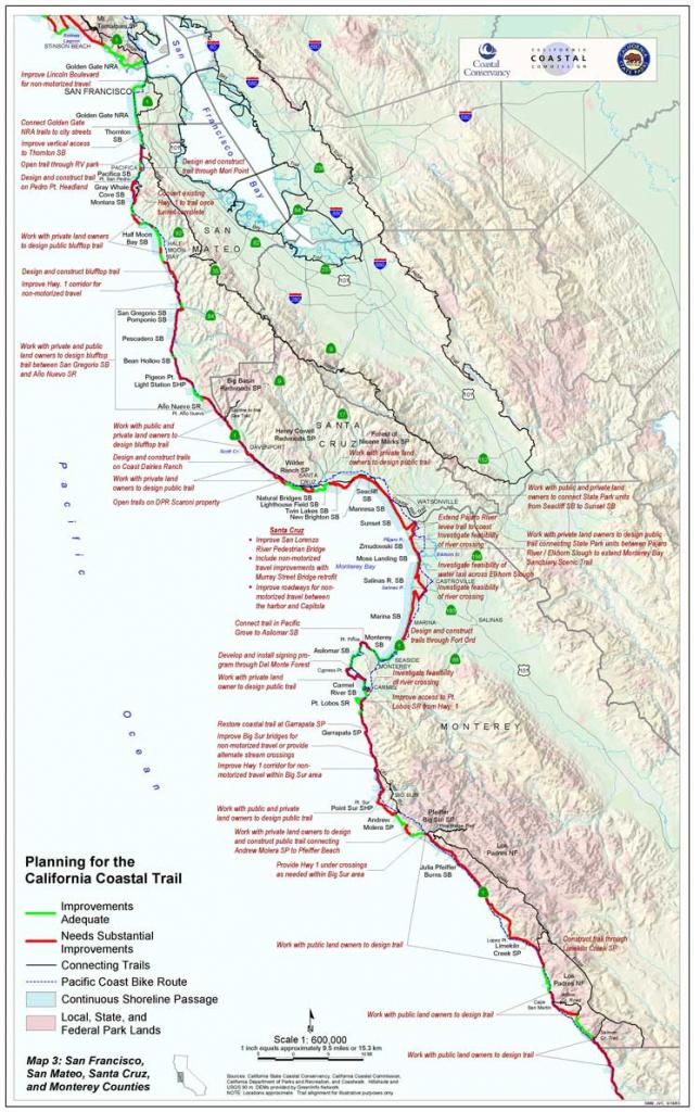 California Coastal Trail - Southern California Trail Maps with Printable Trail Maps