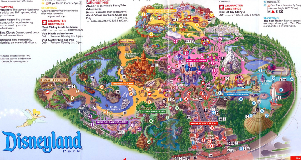 California Disneyland Map @ Dlandmap Make A Gallery Disneyland Park for Printable Disneyland Park Map