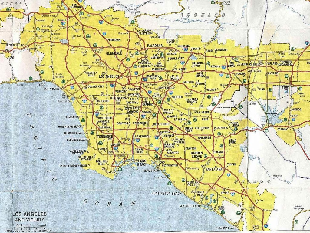 California Map With Cities Map Of Southern California Freeways X with Printable Map Of Southern California Freeways