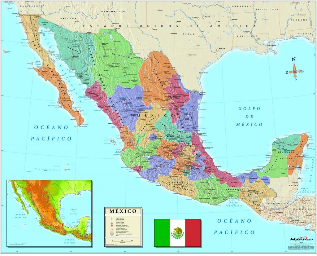 California Mexico Border Map Free Printable Map Baja California Map within Free Printable Map Of Mexico