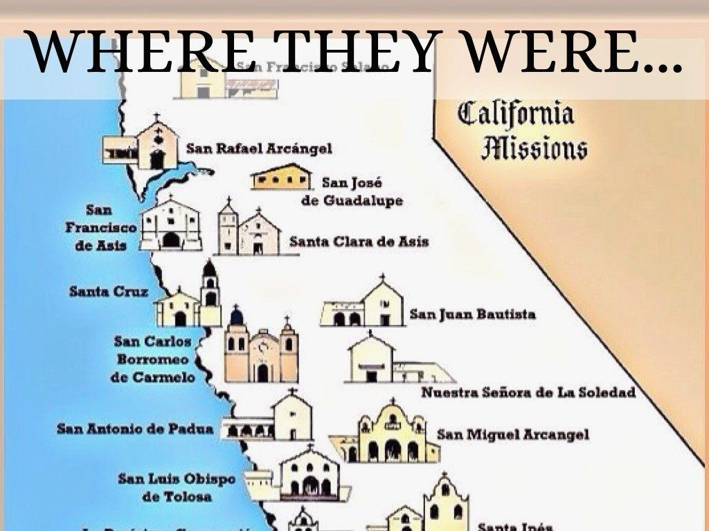 California Missions Map Printable - Pictures Collection Of Mission throughout California Missions Map Printable