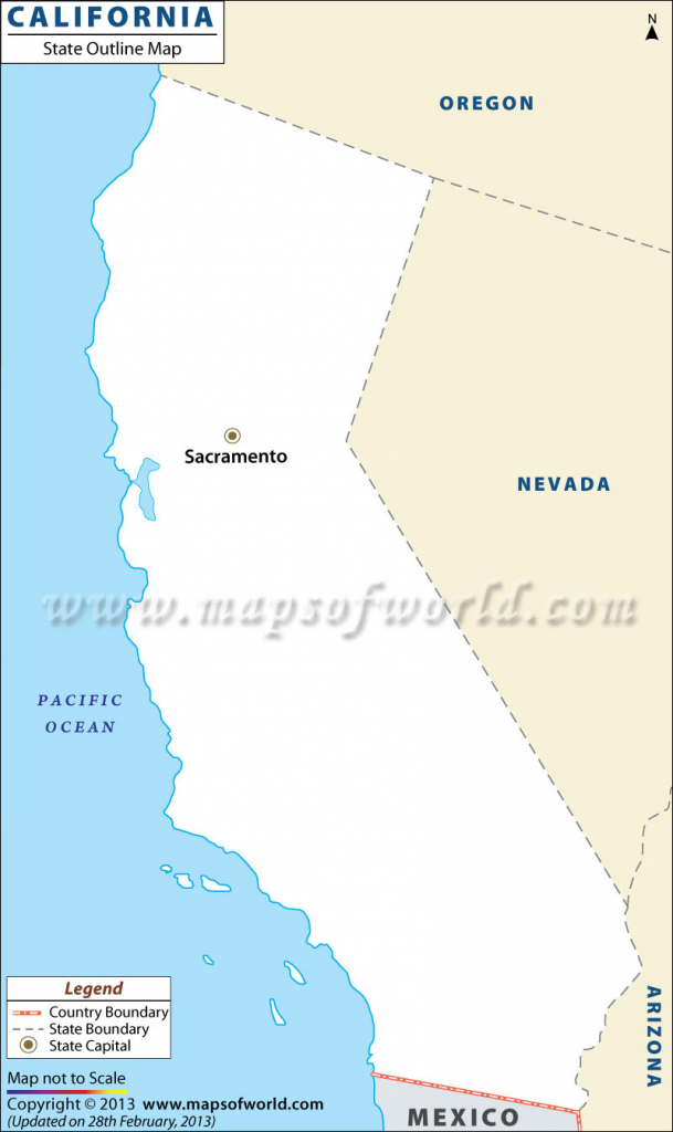 California Outline Map Map Road With Blank Map Of California inside California Outline Map Printable