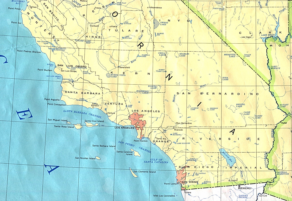 California South Valid Map Of Printable Map Of Southern California intended for Printable Map Of Southern California