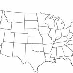 California State Outline Map Reference Us Blank Map With States For Map Of United States Outline Printable