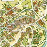 Cambridge University Campus Departments Colleges Birds Eye 3D Aerial within Cambridge Tourist Map Printable