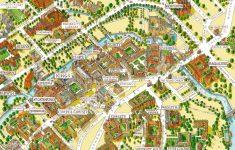 Cambridge University Campus Departments Colleges Birds Eye 3D Aerial within Cambridge Tourist Map Printable