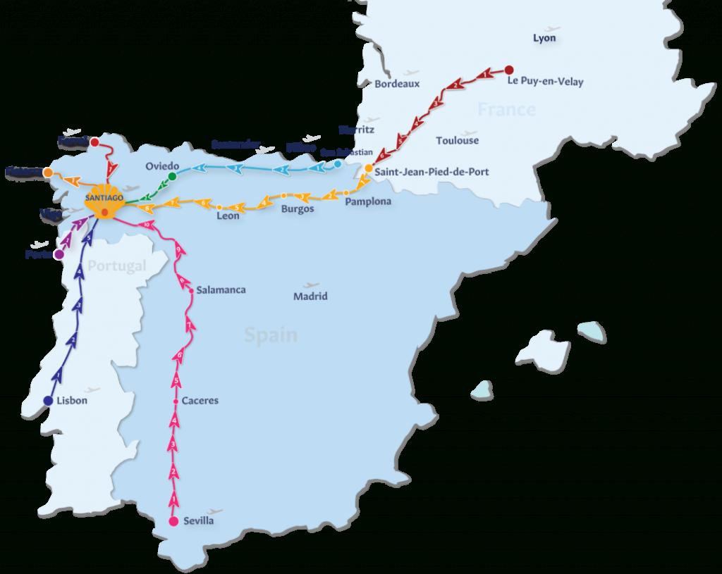 Camino De Santiago Routes | Follow The Camino in Printable Map Of Camino De Santiago