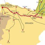 Camino De Santiago Routes In Spain Pertaining To Printable Map Of Camino De Santiago