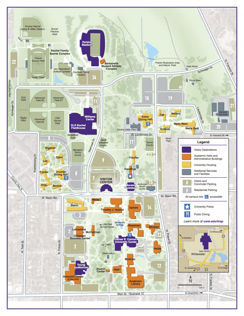 Campus Map | University Of Wisconsin-Whitewater throughout Uw Madison Campus Map Printable