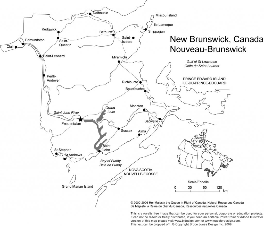 Canada And Provinces Printable, Blank Maps, Royalty Free, Canadian within Printable Map Of New Brunswick