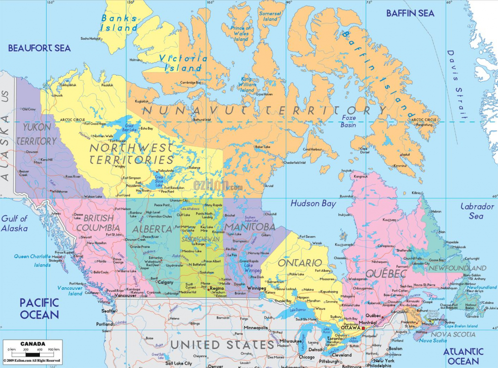 Canada Cities Map - Map Of Canada Showing Cities (Northern America for Printable Map Of Canada With Cities