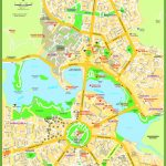Canberra Street Map With Printable Map Of Canberra