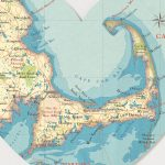 Cape Cod Map Heart Printbombus Off The Peg | Notonthehighstreet Regarding Printable Map Of Cape Cod