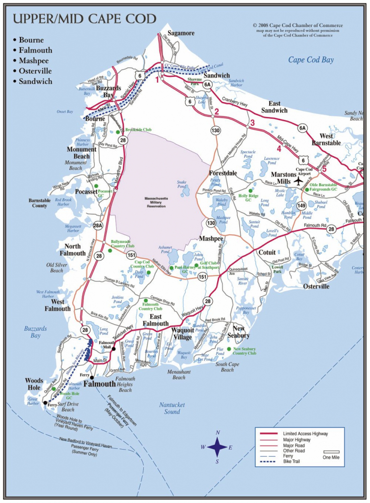 Cape Cod Maps | Cape Cod Chamber Of Commerce within Printable Map Of Cape Cod