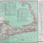 Cape Cod Road Map Print   Reproduction     Antique Maps And Charts Inside Printable Map Of Cape Cod Ma