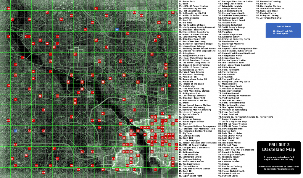 Capital Wasteland Map - Fallout 3 - Giant Bomb regarding Fallout 3 Printable Map