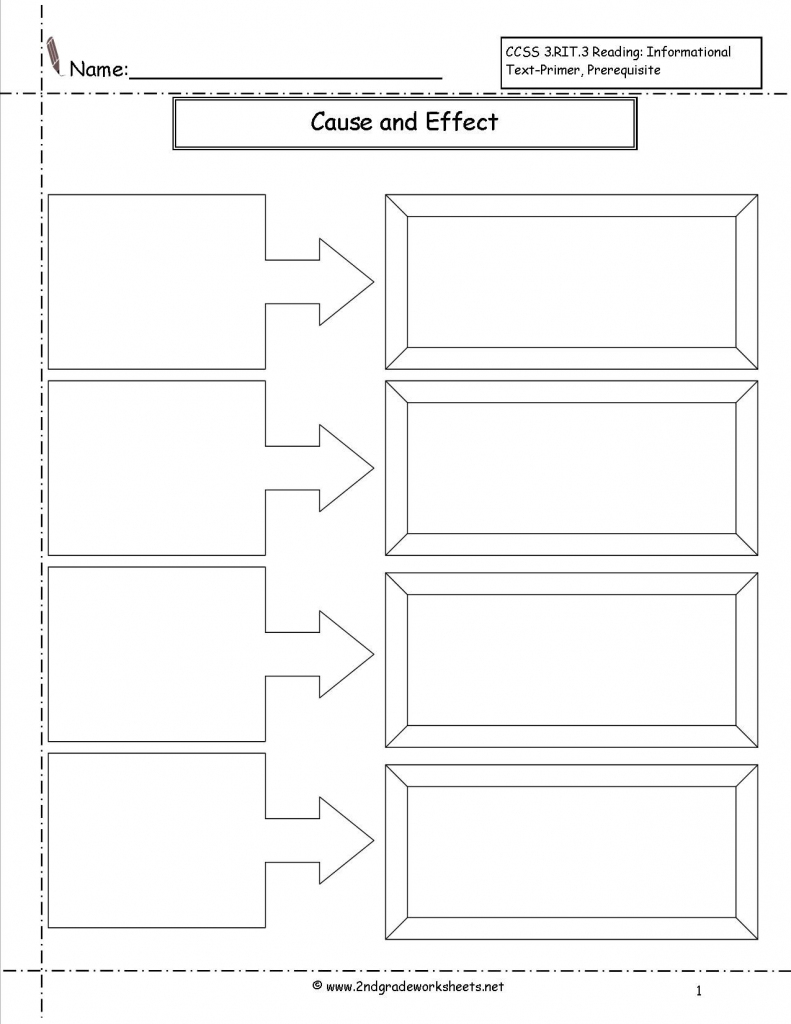 Cause And Effect Worksheet - Google Search | Reading | Flow Map pertaining to Flow Map Printable