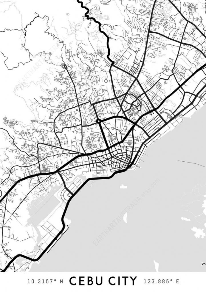 Cebu City Map Print Cebu City Print Cebu City Map | Etsy inside Cebu City Map Printable