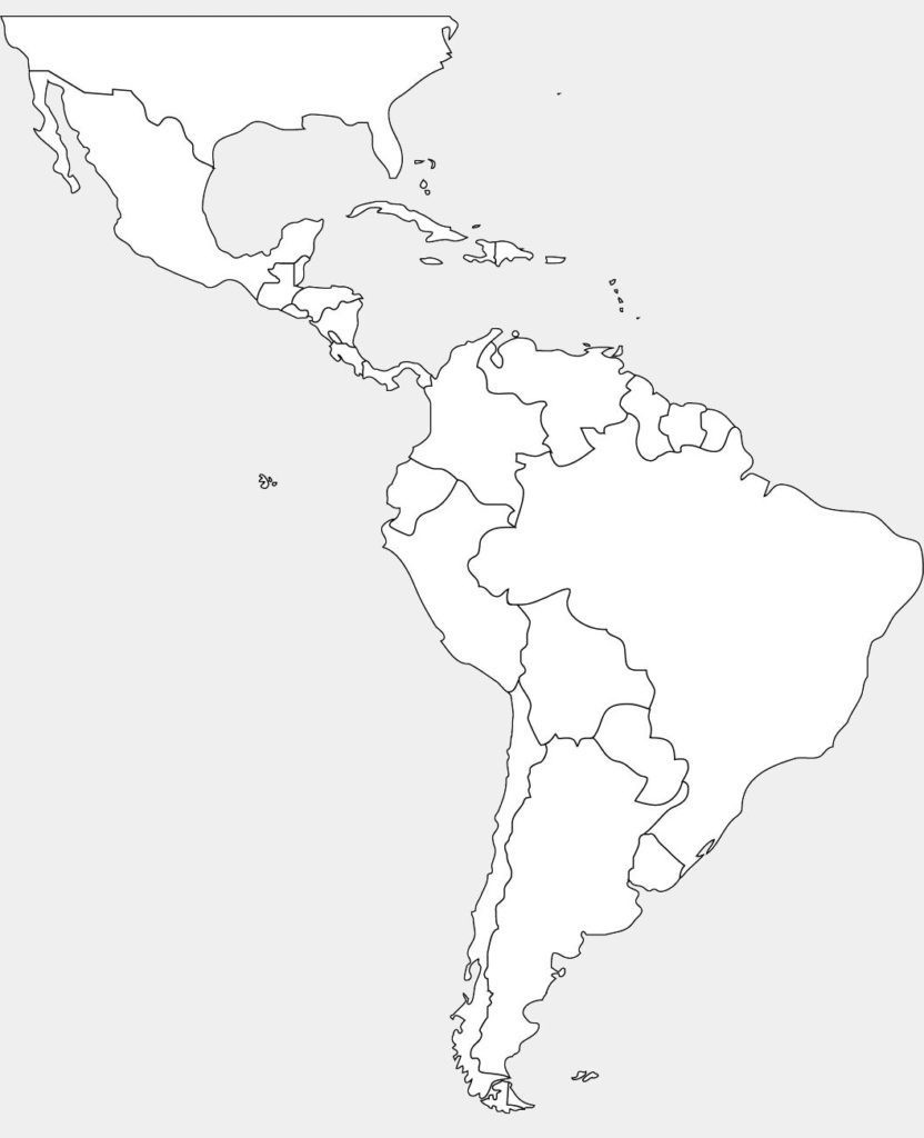 Central And South America Blank Map - Thor.ciceros.co with regard to Printable Blank Map Of Central America