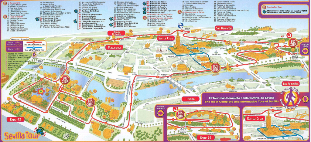 Central Seville Tourist Map - Seville • Mappery - Seville Tourist regarding Printable Tourist Map Of Seville